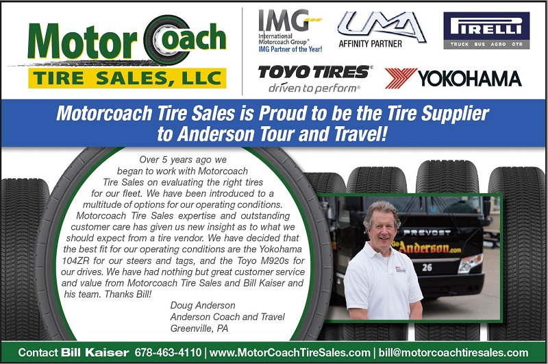 Motor Coach Tires Sales